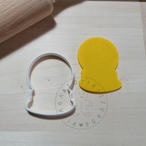 Hógömb körvonal - süteménykiszúró forma, sütipecsét. Linzer, mézeskalács, keksz kiszúró, Otthon & Lakás, Konyhafelszerelés, Sütikiszúró, Mindenmás, Mézeskalácssütés, Hógömb forma sütemény kiszúró.\nSaját tervezésű süteménykiszúró forma, mely 3D nyomtatással készül. S..., Meska
