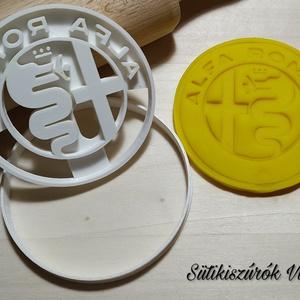 Alfa Romeo logo- süteménykiszúró forma, sütipecsét. Linzer, mézeskalács, keksz kiszúró, Otthon & Lakás, Konyhafelszerelés, Sütikiszúró, Mindenmás, Mézeskalácssütés, Alfa romeo logo forma sütemény kiszúróés minta nyomó.\nSaját tervezésű süteménykiszúró forma, mely 3D..., Meska