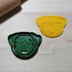 Mopsz fej - süteménykiszúró forma, sütipecsét. Linzer, mézeskalács, keksz kiszúró, Otthon & Lakás, Konyhafelszerelés, Sütikiszúró, Mindenmás, Mopsz fej forma sütemény kiszúróés minta nyomó.\nSaját tervezésű süteménykiszúró forma, mely 3D nyomt..., Meska