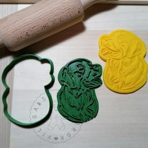 Golden retriever fej - süteménykiszúró forma, sütipecsét. Linzer, mézeskalács, keksz kiszúró, Otthon & Lakás, Konyhafelszerelés, Sütikiszúró, Mindenmás, Golden retriever fej forma sütemény kiszúróés minta nyomó.\nSaját tervezésű süteménykiszúró forma, me..., Meska