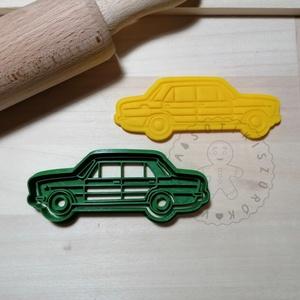 Lada - süteménykiszúró forma, sütipecsét. Linzer, mézeskalács, keksz kiszúró, Otthon & Lakás, Konyhafelszerelés, Sütikiszúró, Mindenmás, Mézeskalácssütés, Lada forma sütemény kiszúró és minta nyomó. \nSaját tervezésű süteménykiszúró forma, mely 3D nyomtatá..., Meska