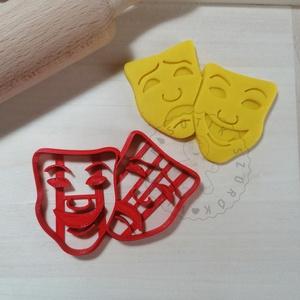 Színházi maszkok - süteménykiszúró forma, sütipecsét. Linzer, mézeskalács, keksz kiszúró, Otthon & Lakás, Konyhafelszerelés, Sütikiszúró, Mindenmás, Mézeskalácssütés, Színházi maszkok sütemény kiszúró.\nSaját tervezésű süteménykiszúró forma, mely 3D nyomtatással készü..., Meska