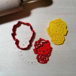 Hello Kitty sapiban - süteménykiszúró forma, sütipecsét. Linzer, mézeskalács, keksz kiszúró (Sutikiszurokvilaga) - Meska.hu