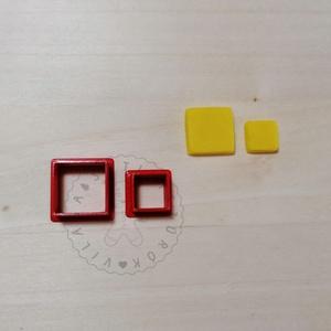 Négyzet (10-15mm) alakú süthető gyurma kiszúrók - polymerclay, kiszúró, kellék, Otthon & Lakás, Konyhafelszerelés, Sütikiszúró, Mindenmás, Ékszerkészítés, Négyzet alakú süthető gyurma kiszúró formák. \nSaját tervezésű kiszúró forma, mely 3D nyomtatással ké..., Meska