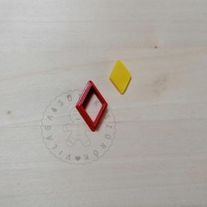 Rombusz alakú süthető gyurma kiszúrók - polymerclay, kiszúró, kellék, Otthon & Lakás, Konyhafelszerelés, Sütikiszúró, Mindenmás, Ékszerkészítés, Rombusz alakú süthető gyurma kiszúró formák. \nSaját tervezésű kiszúró forma, mely 3D nyomtatással ké..., Meska