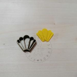 Legyező 3 süthető gyurma kiszúrók - polymerclay, kiszúró, kellék, Otthon & Lakás, Konyhafelszerelés, Sütikiszúró, Mindenmás, Ékszerkészítés, Legyező belső mintával süthető gyurma kiszúró forma. \nSaját tervezésű kiszúró forma, mely 3D nyomtat..., Meska