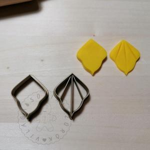 Csúcsos legyező süthető gyurma kiszúrók - polymerclay, kiszúró, kellék, Otthon & Lakás, Konyhafelszerelés, Sütikiszúró, Mindenmás, Ékszerkészítés, Csúcsos legyező körvonal és belső mintás süthető gyurma kiszúró forma. \nSaját tervezésű kiszúró form..., Meska