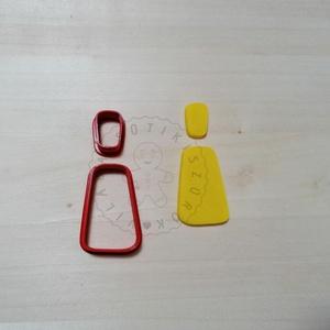 Lekerekített trapéz (2 részes) süthető gyurma kiszúrók - polymerclay, kiszúró, kellék, Otthon & Lakás, Konyhafelszerelés, Sütikiszúró, Mindenmás, Ékszerkészítés, Lekerekített trapéz süthető gyurma kiszúró forma. \nSaját tervezésű kiszúró forma, mely 3D nyomtatáss..., Meska