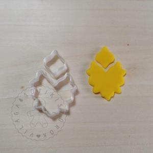 Díszes szett 2. (2 részes) süthető gyurma kiszúrók - polymerclay, kiszúró, kellék, Otthon & Lakás, Konyhafelszerelés, Sütikiszúró, Mindenmás, Ékszerkészítés, Díszes szett 2. süthető gyurma kiszúró formák. \nSaját tervezésű kiszúró forma, mely 3D nyomtatással ..., Meska