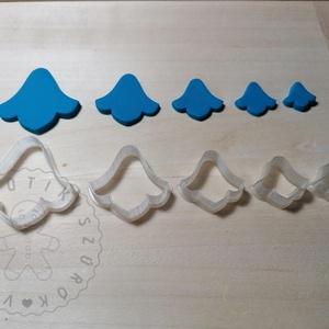 Harangvirág alakú süthető gyurma kiszúrók (5db) - polymerclay, kiszúró, kellék, Otthon & Lakás, Konyhafelszerelés, Sütikiszúró, Mindenmás, Ékszerkészítés, Harangvirág alakú süthető gyurma kiszúró formák. 5 db-os szett!\nSaját tervezésű kiszúró forma, mely ..., Meska