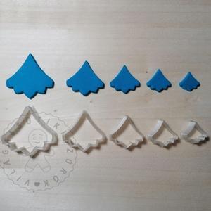 Csepp levél alakú süthető gyurma kiszúrók (5db) - polymerclay, kiszúró, kellék, Otthon & Lakás, Konyhafelszerelés, Sütikiszúró, Mindenmás, Ékszerkészítés, Csepp levél alakú süthető gyurma kiszúró formák. 5 db-os szett!\nSaját tervezésű kiszúró forma, mely ..., Meska