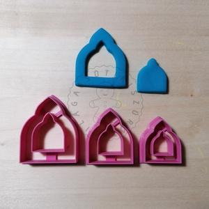 Marokkói boltív ablak süthető gyurma kiszúrók (3db) - polymerclay, kiszúró, kellék, Otthon & Lakás, Konyhafelszerelés, Sütikiszúró, Mindenmás, Ékszerkészítés, Marokkói boltív ablak süthető gyurma kiszúró formák. 3 db-os szett!\nSaját tervezésű kiszúró forma, m..., Meska