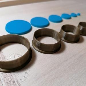 Kör alakú süthető gyurma kiszúrók - polymerclay, kiszúró, kellék, Otthon & Lakás, Konyhafelszerelés, Sütikiszúró, Mindenmás, Ékszerkészítés, Kör alakú süthető gyurma kiszúró formák. \nSaját tervezésű kiszúró forma, mely 3D nyomtatással készül..., Meska
