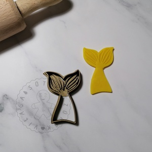 Sellő farok - süteménykiszúró forma, sütipecsét. Sütikiszúró. Linzer, mézeskalács, keksz kiszúró, Otthon & Lakás, Konyhafelszerelés, Sütikiszúró, Mindenmás, Sellő farok forma sütemény kiszúró és minta nyomó.\nSaját tervezésű süteménykiszúró forma, mely 3D ny..., Meska