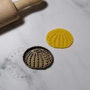 Tengeri sün - süteménykiszúró forma, sütipecsét. Sütikiszúró. Linzer, mézeskalács, keksz kiszúró, Otthon & Lakás, Konyhafelszerelés, Sütikiszúró, Mindenmás, Tengeri sün forma sütemény kiszúró és minta nyomó.\nSaját tervezésű süteménykiszúró forma, mely 3D ny..., Meska