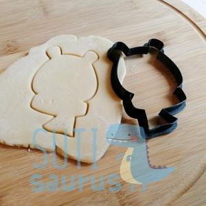 Mackó sálban (2020) süteménykiszúró forma, sálas mackó kekszkiszúró, sálas medve mézeskalács szaggató forma, Otthon & Lakás, Konyhafelszerelés, Sütikiszúró, Fotó, grafika, rajz, illusztráció, Mézeskalácssütés, Mackó sálban (2020) süteménykiszúró forma, sálas mackó kekszkiszúró, sálas medve mézeskalács szaggat..., Meska