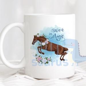 Lovas bögre - Lovas kerámia bögre, Ajándék ötlet lovasoknak, lókedvelőknek, Otthon & Lakás, Konyhafelszerelés, Bögre & Csésze, Egyedi, névre szólóan is kérhető lovas bögre. Alapból a grafika a bögre mindkét oldalára rákerül, de..., Meska