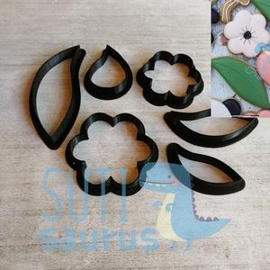 Egyszerű virág és levél kekszkiszúró szett (6 db), Virág levéllel, virág levéllel süteménykiszúró mézeskalács kiszúró, Otthon & Lakás, Konyhafelszerelés, Sütikiszúró, 6 darabos virág és levelek mézeskalács kiszúró forma szett (körvonal kiszúrók) 2 db virág (egyformák..., Meska