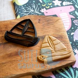 Hajó, vitorlás, vitorláshajó sütemény kiszúró forma - Járművek - Meska.hu