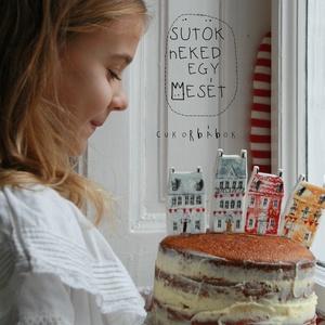 AZ ÉN VÁROSOM! - cukorbábok a tortádra, Gyerek & játék, Dekoráció, Otthon & lakás, Ünnepi dekoráció, Képzőművészet, Baba-és bábkészítés, Fotó, grafika, rajz, illusztráció, Harsogjanak a trombiták, peregjenek a dobok! Ma ünnepeljen az egész város! Piros és arany zászlófüzé..., Meska