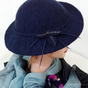 """Nemezelt kalap \"""" Mélység\"""", Kalap, Sál, Sapka, Kendő, Ruha & Divat, Nemezelés, Kalap 100% gyapjúból készült,  Méret: 56-57. Könnyű, formatartó, vizálló., Meska"""