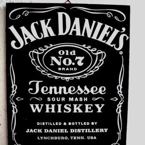 Jack Daniels feliratos táblakép, Otthon & lakás, Lakberendezés, Falikép, Férfiaknak, Sör, bor, pálinka, Legénylakás, Decoupage, transzfer és szalvétatechnika, Fotó, grafika, rajz, illusztráció, Jack Daniels ,Whiskys kép /plakett/.Kedvelt márka képen.\nLegéynlakás,férfiaknak,házavatóra\nAnyaga MD..., Meska