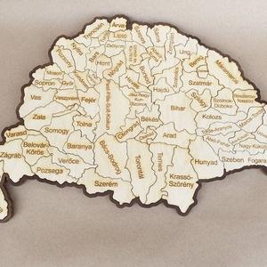 Nagy Magyarország Fa Puzzle, Társasjáték & Puzzle, Játék & Gyerek, Famegmunkálás, Nagy Magyarország térképe puzzle, a vármegyék neveivel gravírozva.\nJátszva tanulhatja meg akár gyerm..., Meska