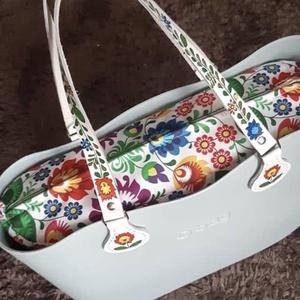O bag belső - Kalocsai mintás (Több méret), Táskapánt & Alkatrész, Táska & Tok, Varrás, Obag táskához készült egyedi belső dizájner pamut anyagból.\nBelül 2 zseb található. \nOldala és tetej..., Meska