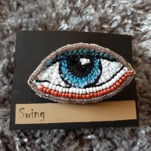 Őrző szem kitűző (Swing) - Meska.hu