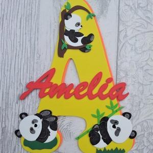 Dekorgumi gyerekszoba dekoráció névtábla panda, Gyerek & játék, Gyerekszoba, Dekoráció, Otthon & lakás, Falmatrica, Mindenmás, Dekorgumi gyerekszoba dekoráció névtábla panda\n\nA nagy betűn (név kezdőbetűje) középen helyezkedik e..., Meska