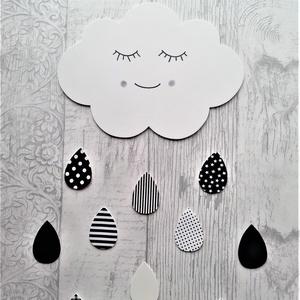 Dekorgumi gyerekszoba dekoráció Fekete-fehér felhős szett, monochrome (sylmiracraft) - Meska.hu