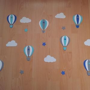 Dekorgumi gyerekszoba dekoráció légballonos szett, Gyerek & játék, Gyerekszoba, Baba falikép, Dekoráció, Otthon & lakás, Mindenmás, Dekorgumi gyerekszoba fal dekoráció légballonos szett, türkiz-kék-szürke\n\nA szett tartalmaz 7 db lég..., Meska