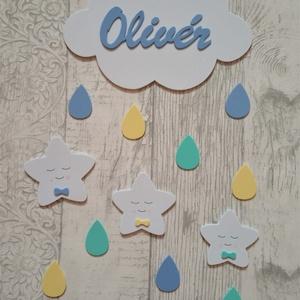 Csillag szett, kék-türkiz-sárga, Gyerek & játék, Gyerekszoba, Dekoráció, Otthon & lakás, Falmatrica, Mindenmás, Csillag szett, kék-türkiz-sárga\nDekorgumi gyerekszoba dekoráció\nA szett tartalmaz: 1 db felhő névvel..., Meska