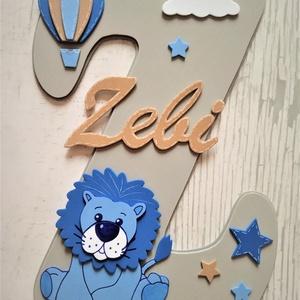 dekorgumi gyerekszoba dekoráció, névtábla, oroszlán, légballon, Betű & Név, Dekoráció, Otthon & Lakás, Mindenmás, Dekorgumi gyerekszoba dekoráció névtábla oroszlán,  légballon\n\nA nagy betűn (név kezdőbetűje) középe..., Meska