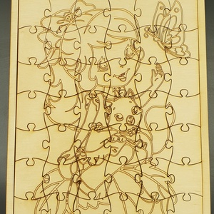 Kézműves gyermek kirakó játék , Játék, Gyerek & játék, Készségfejlesztő játék, Fajáték, Logikai játék, Gravírozás, pirográfia, Famegmunkálás, 42 darabos kiszínezhető kézműves gyermek puzzle. \nAnyaga natúr nyír rétegelt lemez. \nNapi inspiráció..., Meska