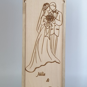 Egyedi esküvői szülőköszöntő bortartó esküvőre, Nászajándék, Emlék & Ajándék, Esküvő, Gravírozás, pirográfia, Famegmunkálás, Saját tervezésű egyedi bortartó esküvőre öröm szülőknek. \nAnyaga natúr nyír rétegelt lemez. \nNapi in..., Meska
