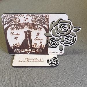 Esküvői talpas táblácska köszönetajándék esküvőre , Táblakép, Dekoráció, Otthon & Lakás, Gravírozás, pirográfia, Famegmunkálás, Köszönetajándék, emlék esküvőre a kedves vendégeknek. \nGravírozott nyír fa lap talppal. \nNapi inspir..., Meska