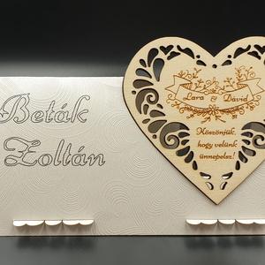 Esküvői köszönő ajándék hűtőmágnes, ültetőkártyával , Hűtőmágnes, Konyhafelszerelés, Otthon & Lakás, Gravírozás, pirográfia, Famegmunkálás, Esküvői köszönő ajándék hűtőmágnes, ültetőkártyával. Köszönetajándék, emlék esküvőre a kedves vendég..., Meska