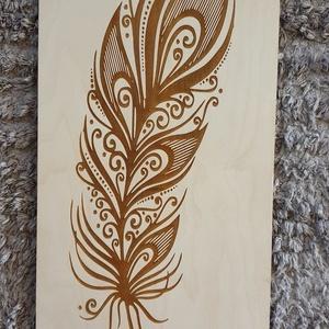Indián toll gravírozott fali kép, Kép & Falikép, Dekoráció, Otthon & Lakás, Famegmunkálás, Festett tárgyak, Indián toll gravírozott fali kép mínőségi nyír rétegelt lemezből.\nMérete 25x49 cm. \nNapi inspirációk..., Meska