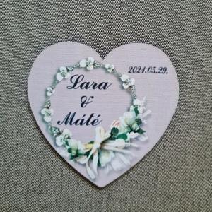 Esküvői hűtőmágnes Köszönetajándék esküvőre , Esküvő, Emlék & Ajándék, Köszönőajándék, Famegmunkálás, Meska