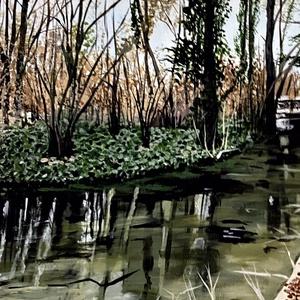 Alcsúti arborétum, Otthon & lakás, Képzőművészet, Festmény, Akril, Festészet, Akril festmény.30x40 méretben kasírozott vászonon natúr keretben.\nÁra 28000ft, Meska