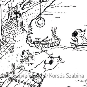 Vakációzó kiskutyák :: A4 nyomdai nyomat (szabinak) - Meska.hu