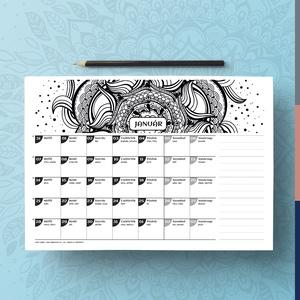 Letölthető, nyomtatható 2019-es naptár (SzabisCreativeWorld) - Meska.hu