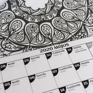 Mandala színező 2020 falinaptár -  - Meska.hu