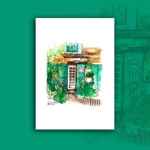 """""""Provence-i hangulat"""" - akvarell festmény nyomat, Művészet, Művészi nyomat, Nyomdai nyomat a """"Provence-i hangulat"""" c. kézzel, vegyes technikával (akvarell, tűfilc, színesceruza..., Meska"""