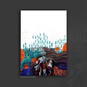"""""""Maya"""" :: Giclée nyomat, digitális technikával készített grafikáról, Művészet, Grafika & Illusztráció, Nyomdai nyomat a """"Maya"""" c. digitális technikával készített grafikámról, mely 100%-ban digitális tech..., Meska"""