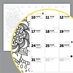 Nyomtatható 2021 naptár, névnapokkal, holdfázisokkal - Meska.hu