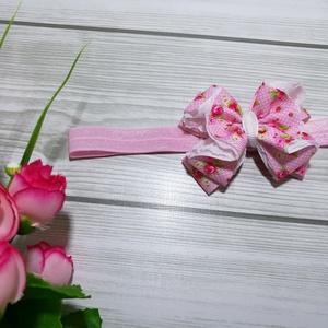 Rózsaszín virág mintás masni csipkés hajpánt, fejpánt, Kulinária (élelmiszer), Táska, Divat & Szépség, Gyerek & játék, Baba-mama kellék, Varrás, Ünnepi alkalomra tökéletes választás ez a rózsaszín virágos fejpánt. \n\nRózsaszín alapon fehér pöttyö..., Meska