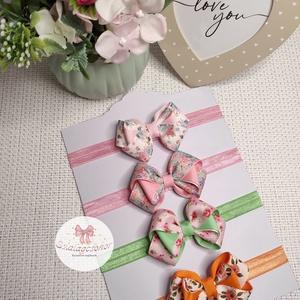 Szép kötésű virág mintás masnik - ruha & divat - hajdísz & hajcsat - hajráf & hajpánt - Meska.hu