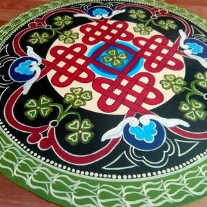 Tibeti szerencsehozó mandala festmény - otthon & lakás - dekoráció - mandala - Meska.hu